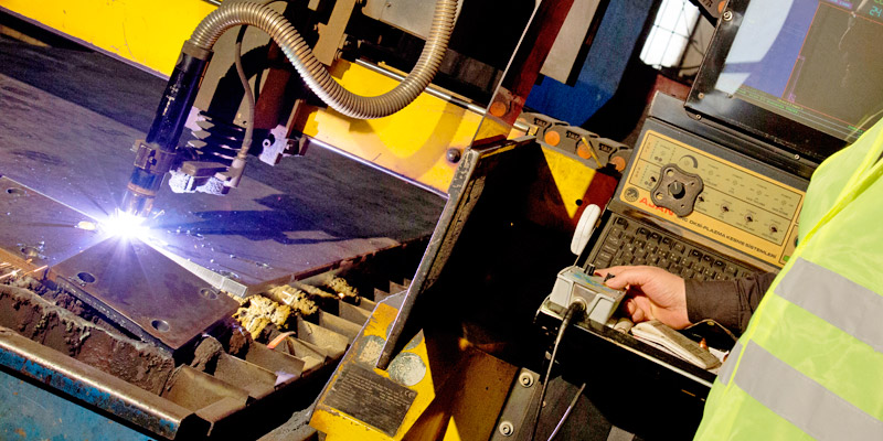 cnc plasma plate cutting